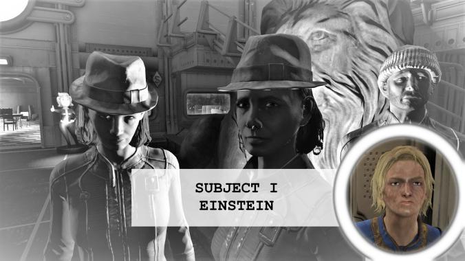 Residents of vault 88 Subject 1 Einstein