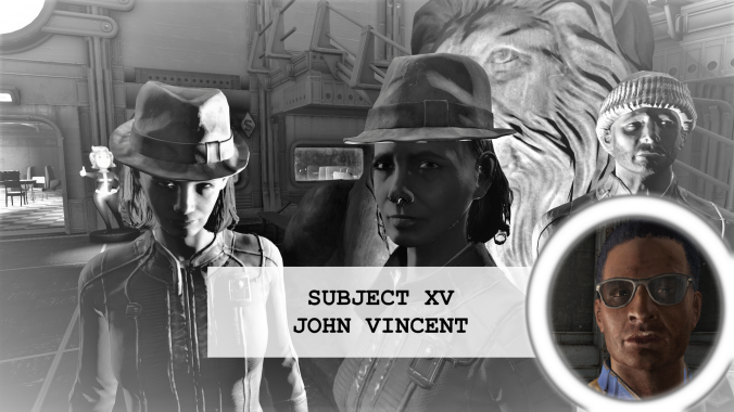 Residents of vault 88 Subject 15 John Vincent