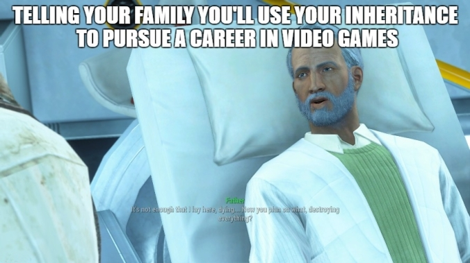 Fallout 4 breaking news to family