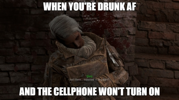 Fallout 4 Drunk AF and cellphone wont turn on