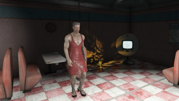 Fallout 4 red dress in cantina