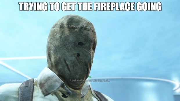 Fallout 4 trying to get the fireplace going