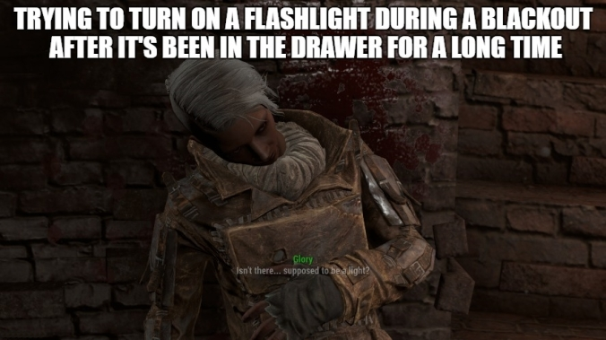 Fallout 4 turning on a flashlight