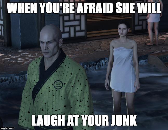 Hitman - afraid she will laugh at his gear.jpg