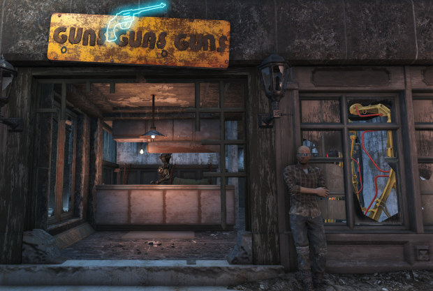 Fallout 4 Deacon outside gunshop in goodneighbour
