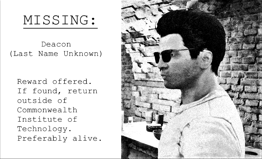 Missing Person Report: Deacon – Game Cosmos Press