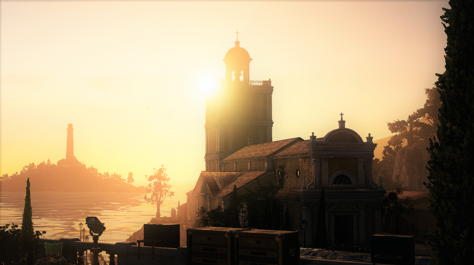 Hitman Sapienza Church view.png