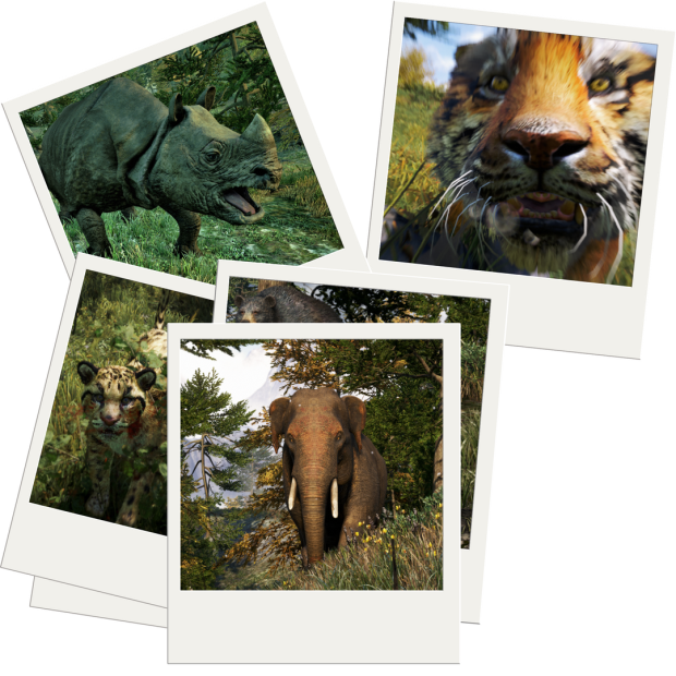 Far Cry 4 polaroid of animals in kyrat